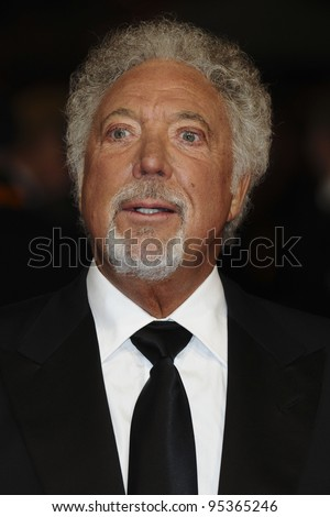 Tom Jones arriving for the BAFTA Film Awards 2012 at the Royal Opera House, Covent Garden, London. 12/02/2012  Picture by: Steve Vas / Featureflash