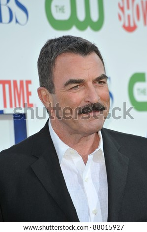 """Tom Selleck - star of """"Blue Bloods"""" - at CBS TV Summer Press Tour Party in Beverly Hills.  July 28, 2010  Los Angeles, CA Picture: Paul Smith / Featureflash"""