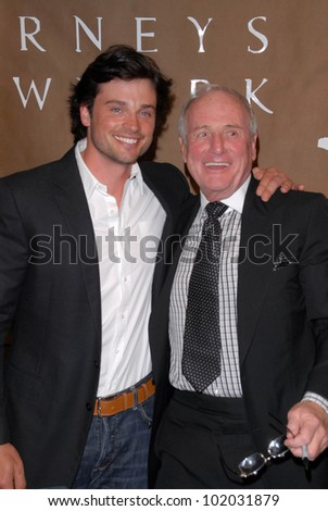 "Tom Welling and Jerry Weintraub at a celebration of Jerry Weintraub's New Book ""When I Stop Talking You'll Know I'm Dead,"" Barney's New  York, Beverly Hills, CA. 05-18-10"