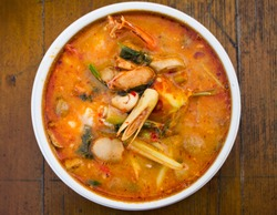 Tom Yum Kung-Thai spicy soup