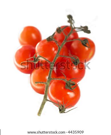 tomates de cerise d'isolement - stock photo