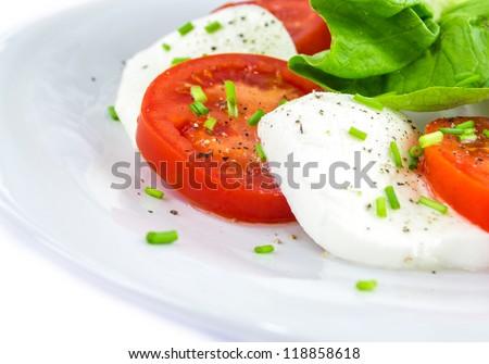 Tomato, cheese, salad