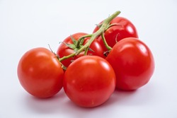 Tomato isolated food ripe red group ingredient. Nnature.