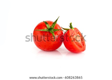 Shutterstock Tomato isolated on white background