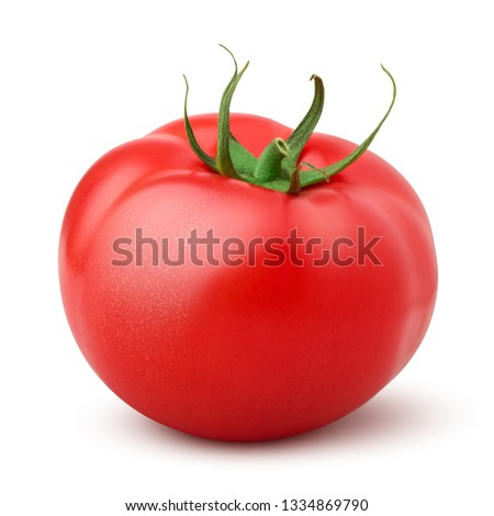 tomato isolated on white background, clipping path, full depth of field #1334869790