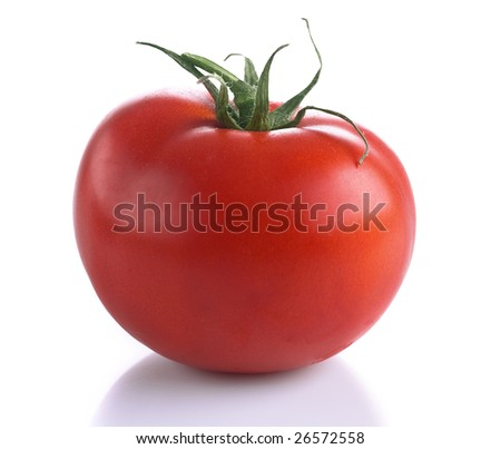 Tomato isolated on white background.Very high detail texture. #26572558