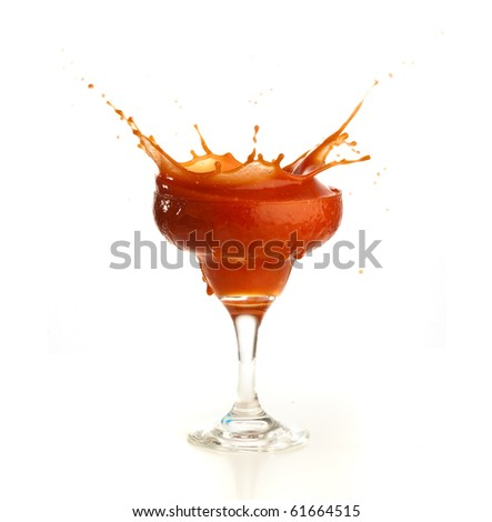 tomato juice on glass