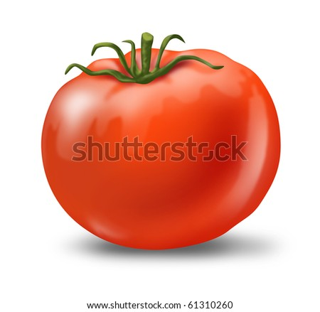 Tomato juicy fresh healthy red  isolated