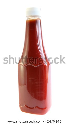 Tomato ketchup on a white background, is isolated