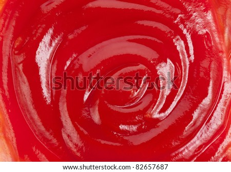 Tomato ketchup sauce texture background