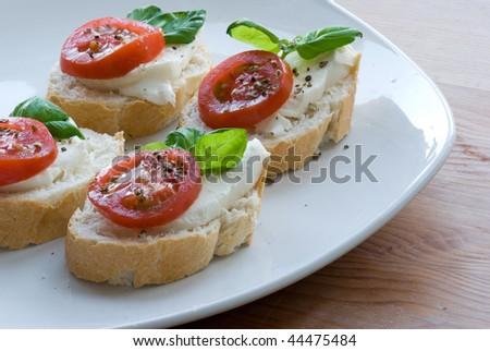 Tomato Mozzarella With Bread Stock Photo 44475484 : Shutterstock