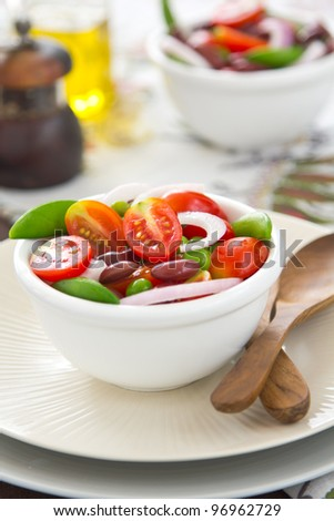 Tomato,Pea and Bean salad