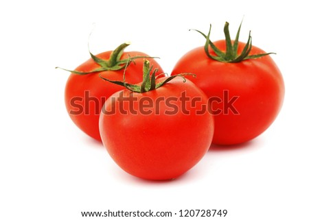tomato pile isolated on white