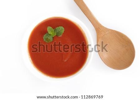 tomato sauce on white