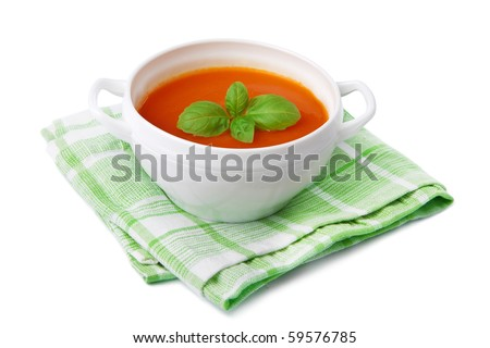 tomato soup isolated