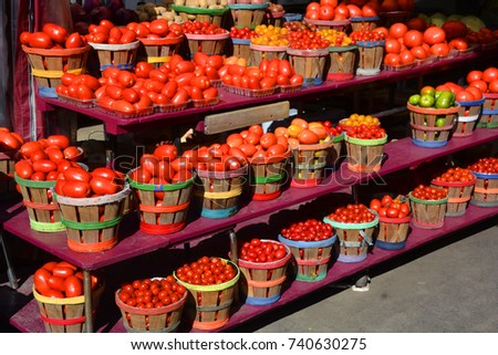 Shutterstock Tomatoes at the Jean-Talon Market is a farmer's market in Montreal. Located in the Little Italy district, the market is bordered by Jean-Talon Street