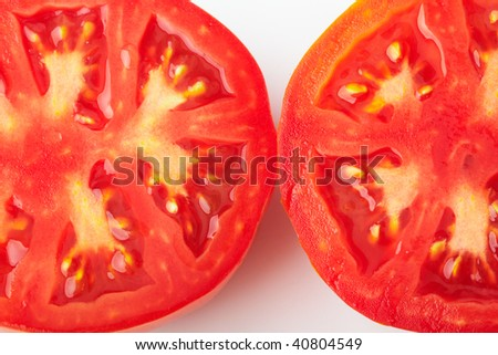 Tomatoes cut in two halves