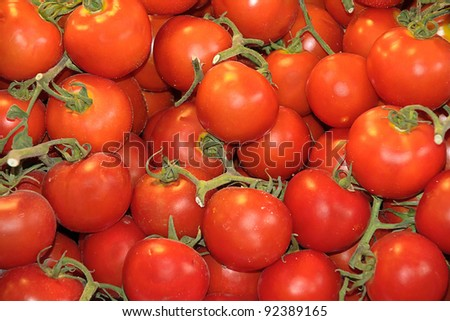 tomatoes in a market