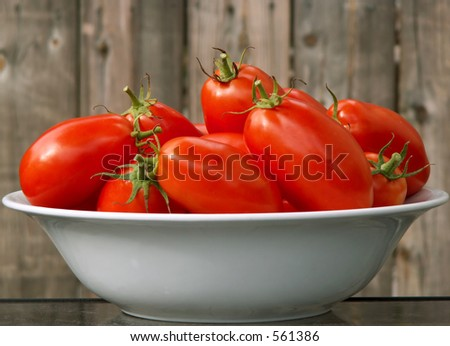 tomatoes in serving bowl