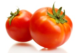 tomatoes isolated on white
