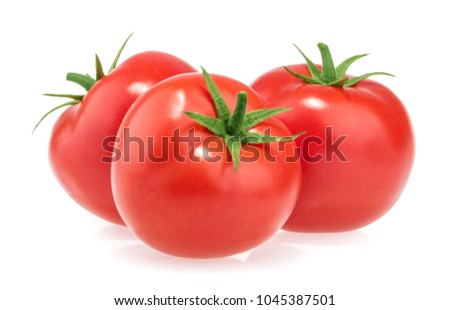 Tomatoes isolated on white background #1045387501