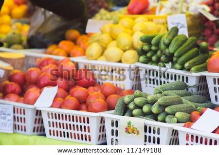 On food market
