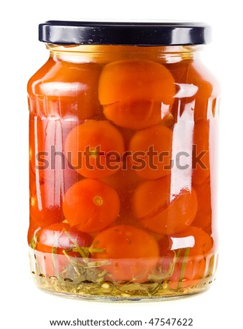 tomatoes vegetables canned in glass jars
