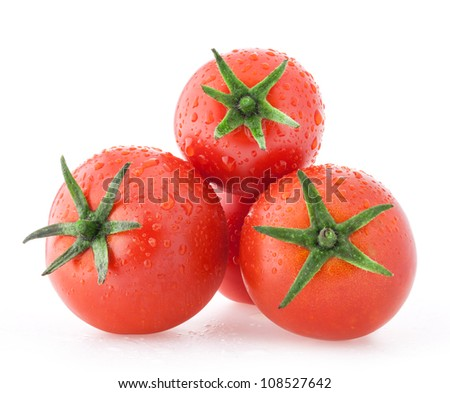 tomatoes with a light shadows, with water droplets