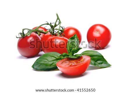 Tomatos & Basil leaf
