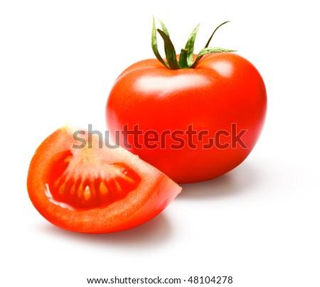 tomatos isolated on white