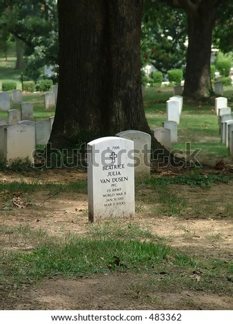 Tomb of a woman soldier in Arlington National Cemetery