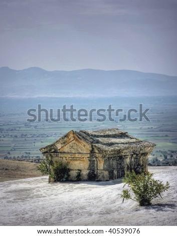 tomb of hierapolis at pamukkale