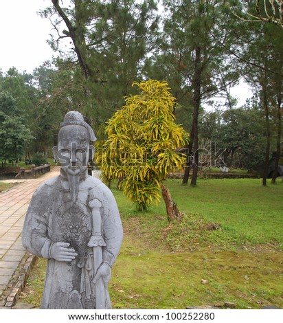 Tomb of Minh Mang in Hue, Vietnam - A UNESCO World Heritage Site