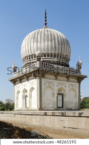 Tomb of one of the rulers of the Qutb Shah Dynasty in Hyderabad India
