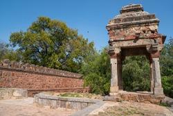 Tomb of Sikandar Lodi, a ruler of the Lodi Dynasty in Lodi Gardens in New Delhi, India