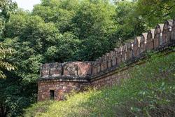 Tomb of Sikandar Lodi, a ruler of the Lodi Dynasty in Lodi Gardens in New Delhi, India - view of the walls