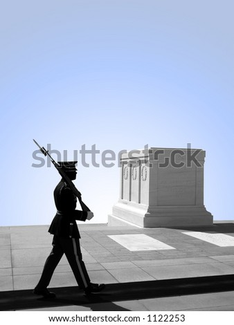 Tomb of the Unknown Soldier, Arlington National Cemetery. Washington D.C. Zdjęcia stock ©