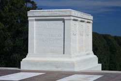 Tomb of the Unknown Soldier in Arlington National Cemetery, Washington DC