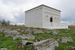 Tomb of Tzadik Levi Yitzhak (Itshak) Berdichevsky at Berdichev (Berdichiv) Jewish cemetery.