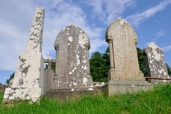 Tombs at Donegal Abbey Ruins (Ireland)
