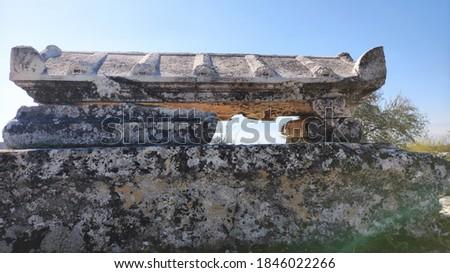Tombs in Hierapolis of Phrygia Stok fotoğraf ©