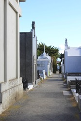tombs on the cemetary of Punta Arenas