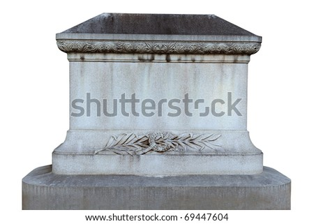 Tombstone isolated over white background