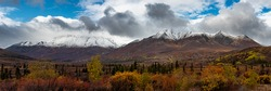 Tombstone Territorial Park in Northern Canada, Yukon Territory. Taken in fall, just as the snow started to fall on the mountain tops.
