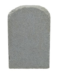 Tombstone With Copy Space Isolated on White Background.