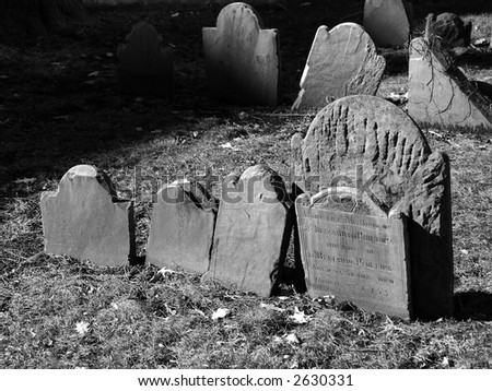 Tombstones from 1755. Here lies the body of Mrs. Elizabeth Phillips, the wife of Mr. Benjamin Phillips. Aged 25 years. Died March 22, 1755