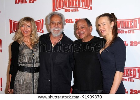 """Tommy Chong and Cheech Marin at the """"Hoodwinked Too"""" World Premiere, Pacific Theaters at the Grove, Los Angeles, CA 04-16-11"""