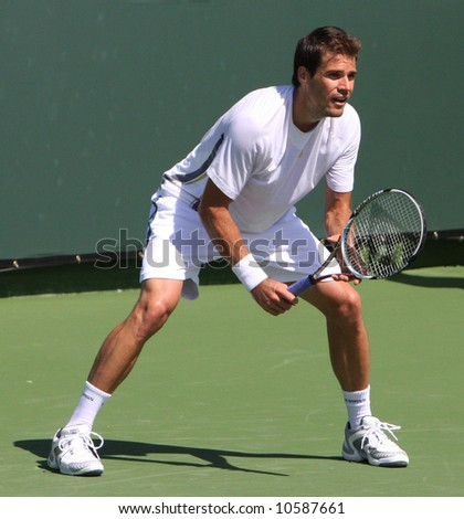 Tommy Haas at the Pacific Life Open Tennis tournament