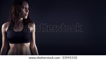 Toned female fitness body
