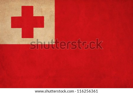 Tonga flag drawing ,grunge and retro flag series